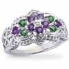 Violets In The Snow Eternity Ring
